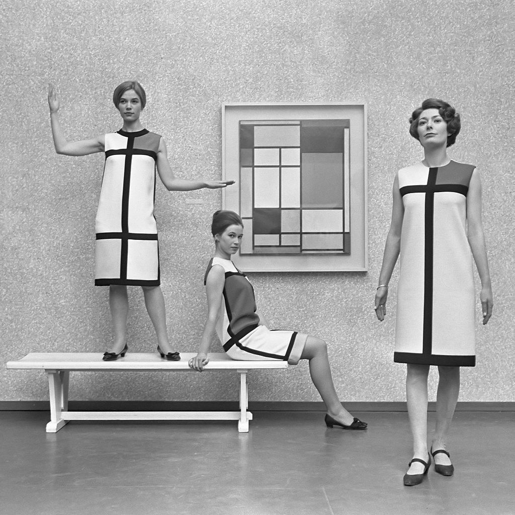 Mondrian dresses by Yves Saint Laurent (1966).
